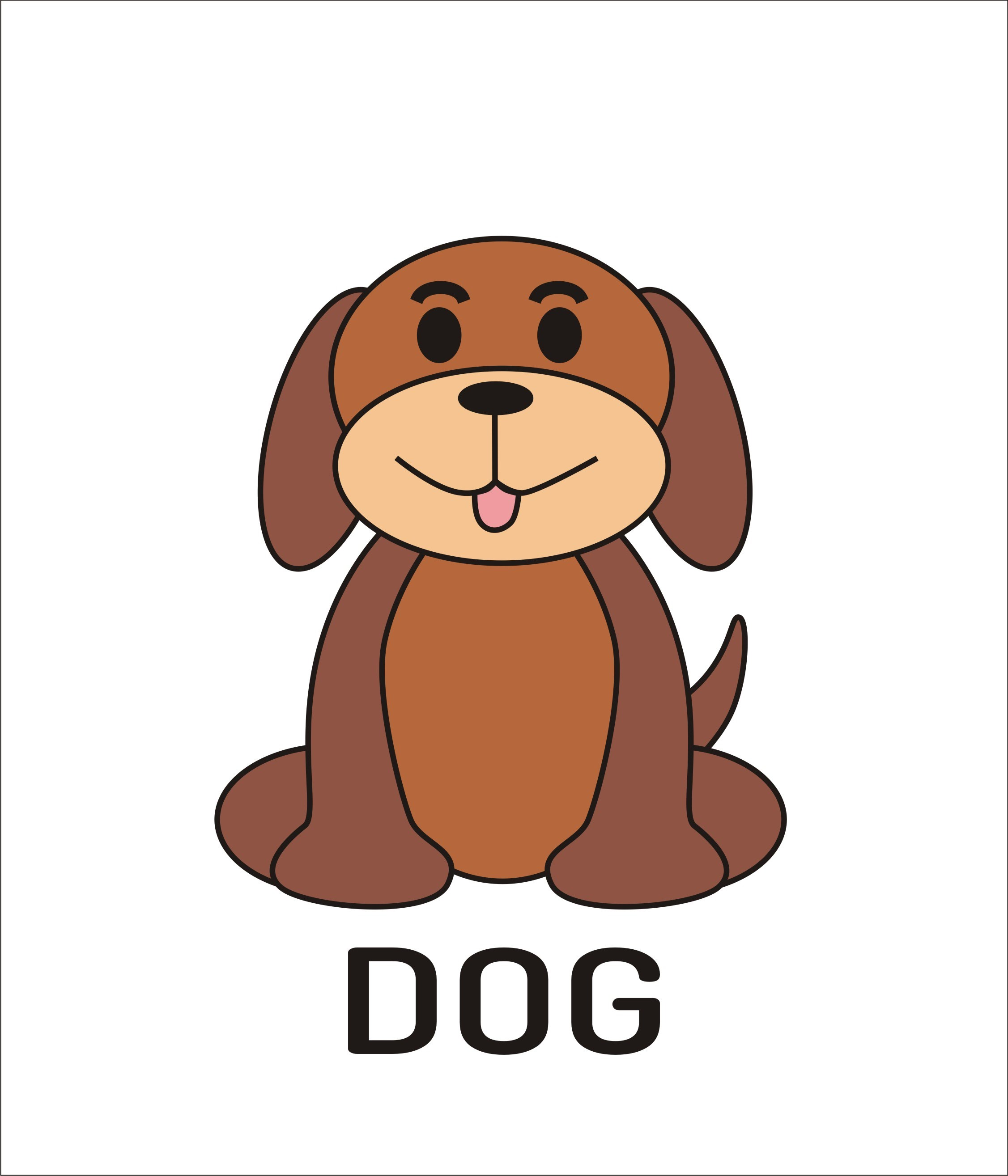 2253x2630 How To Draw A Simple Dog Using Coreldraw