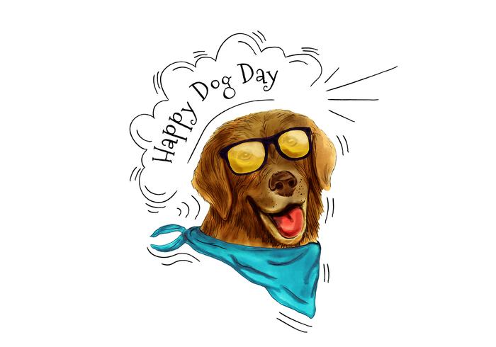 700x490 Funny Dog Wearing Sunglasses And Scarf Smiling To Dog Day