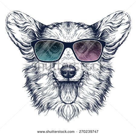 450x446 Silly Cats Wearing Sunglasses Illustrations