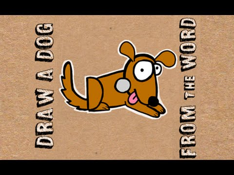 480x360 How To Draw A Dog From The Word Dog Word Drawing For Kids