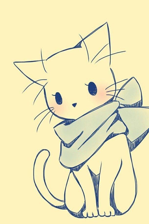 610x915 Pictures Cute Drawing Cat,