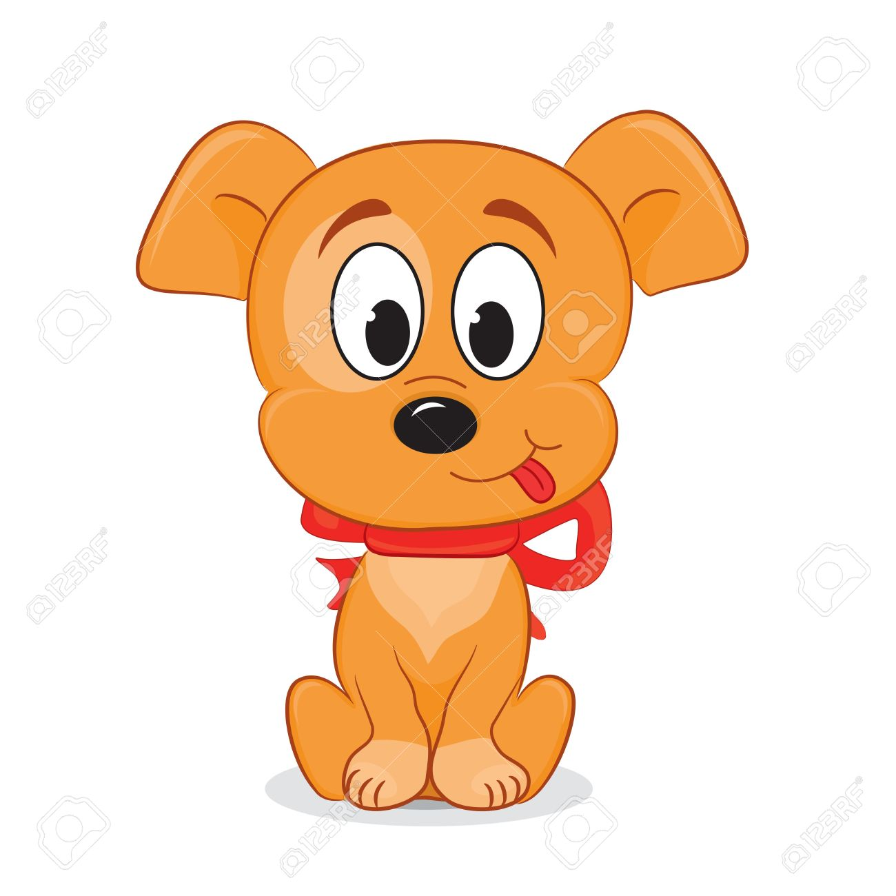 1300x1300 A Cute Cartoon Dog Vector Illustration Royalty Free Cliparts
