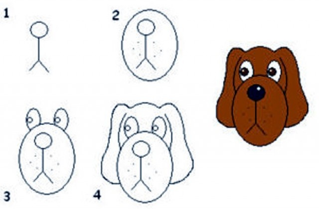 640x420 Tag For How To Draw Puppy Face Drawing Dog Cartoon Drawings How