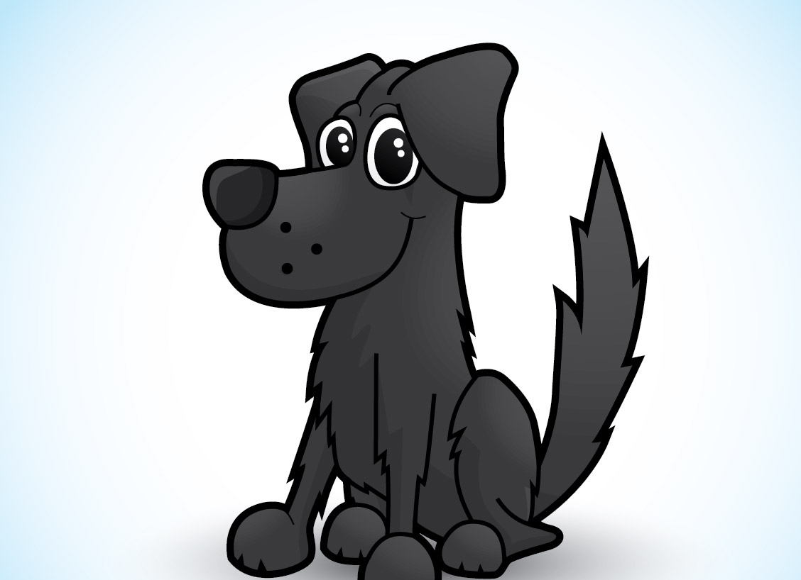 1128x818 How To Draw A Cute Vector Dog Character In Illustrator