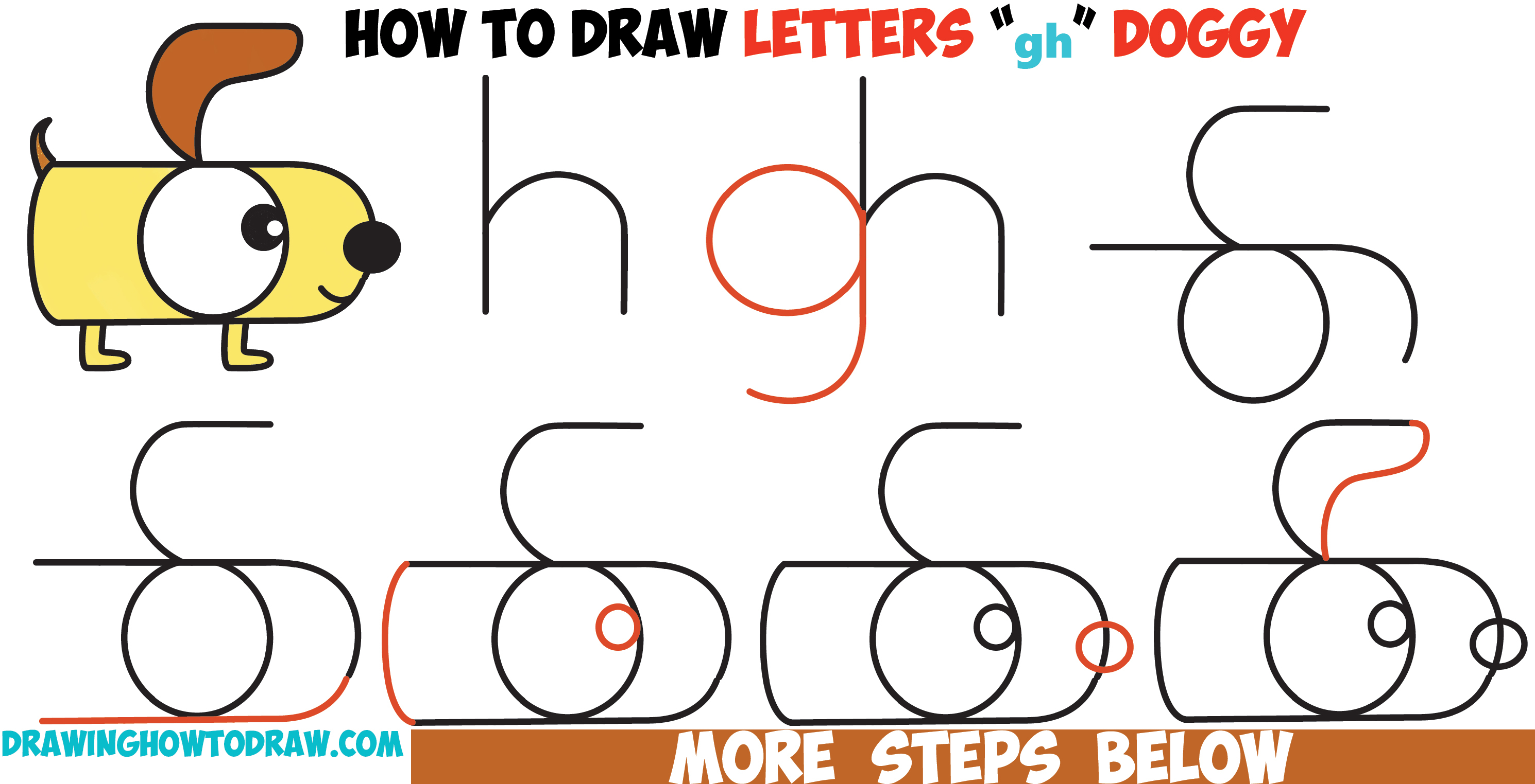 2980x1524 Dog Step By Step Drawing Drawing Cartoon Dog Face Tutorial How