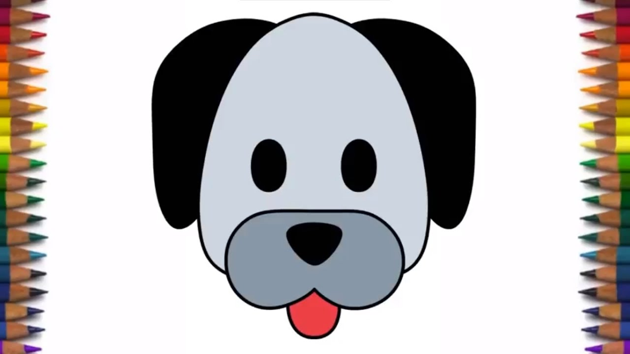 1280x720 How To Draw A Cute Dog Pug Face Emoji Quick And Easy