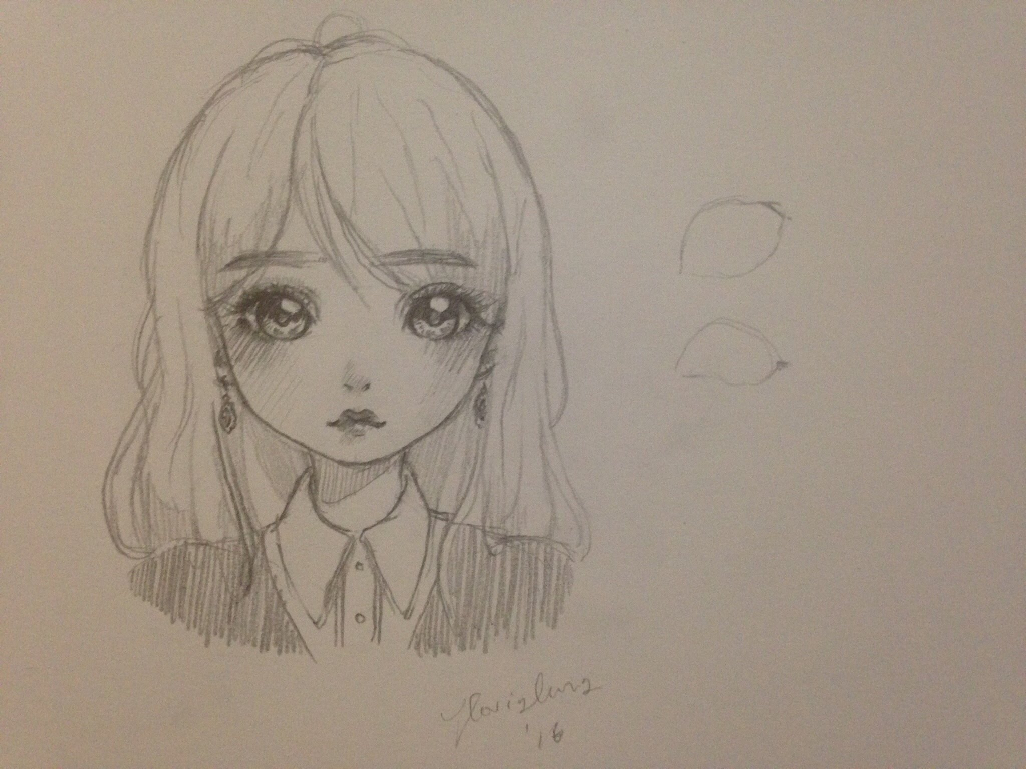 2048x1536 Girlish Cute Doll Image Sketch How To Draw A Girl (Mangadoll