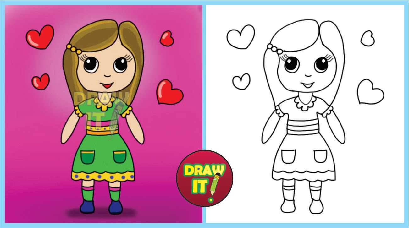 1301x726 How To Draw A Doll