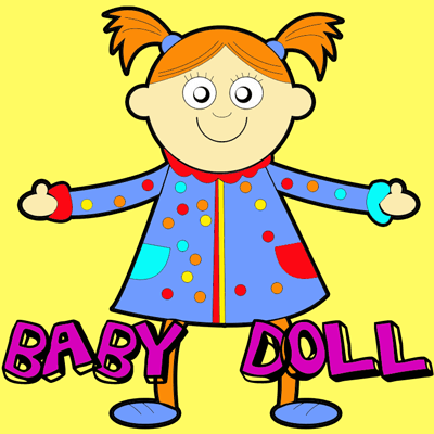 400x400 How To Draw Baby Dolls With Easy Step By Step Drawing Tutorial