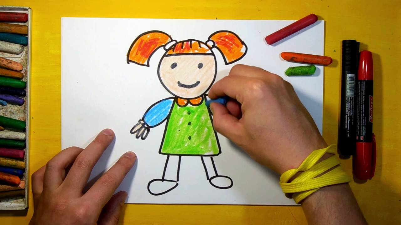 1280x720 How To Draw A Doll For Children