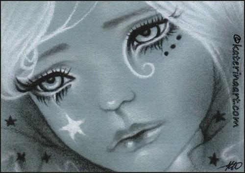 500x352 Fallen Star Bjd Doll Face Aceo Glossy Print Katerinaart On Artfire