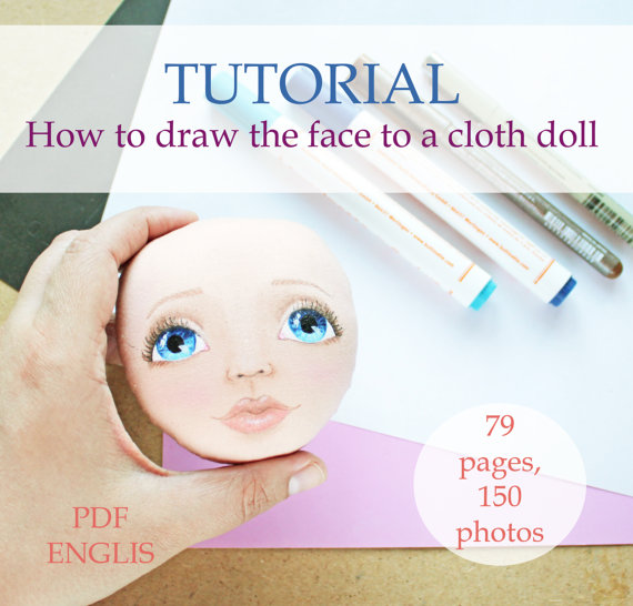 570x546 How To Draw Face, Tutorial, Cloth Doll, Pdf, Step By Step Guide