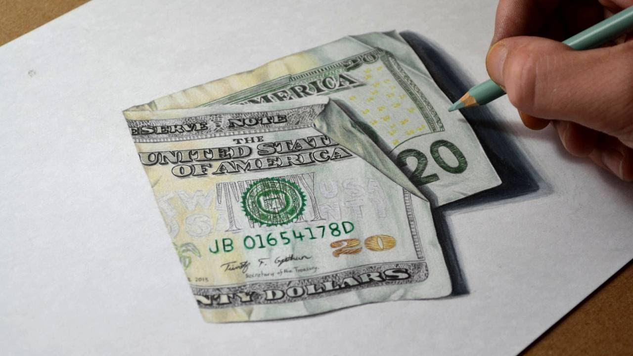 1280x720 How I Draw A Twenty Dollar Bill
