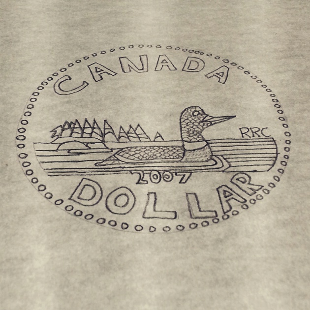 630x630 Canadian Dollar Drawing By Hassancharif