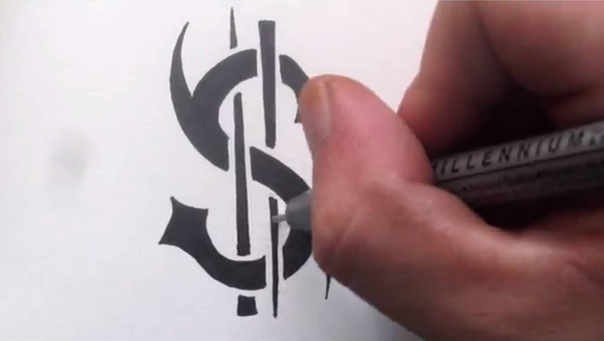1971x1113 How To Draw A Dollar Sign