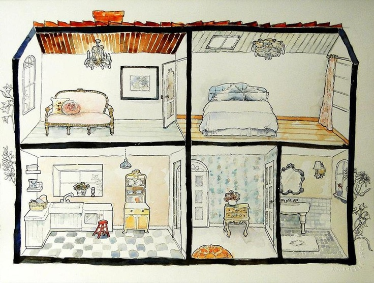 736x556 Doll House Drawing Did A Drawing Of A Doll House With My