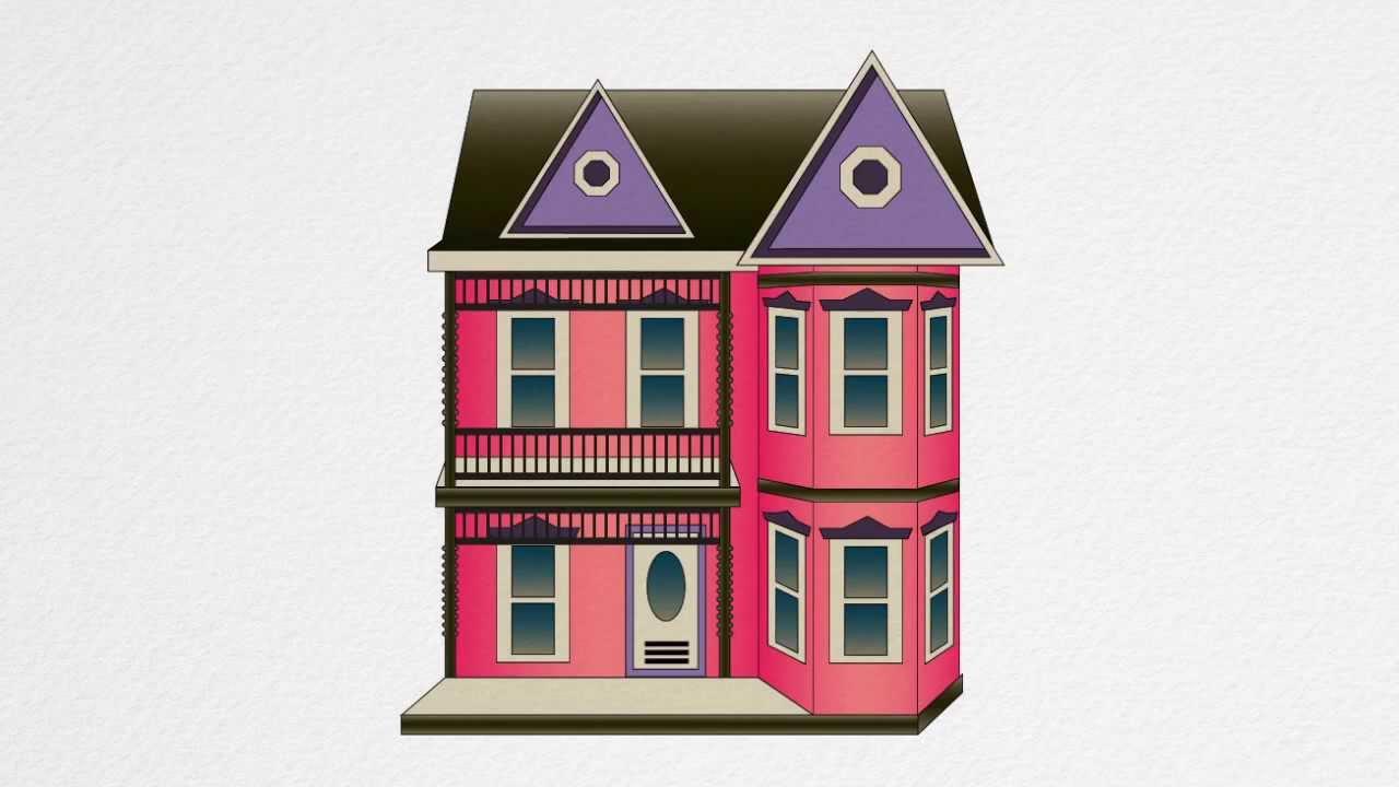 1280x720 How To Draw A Dollhouse Step By Step