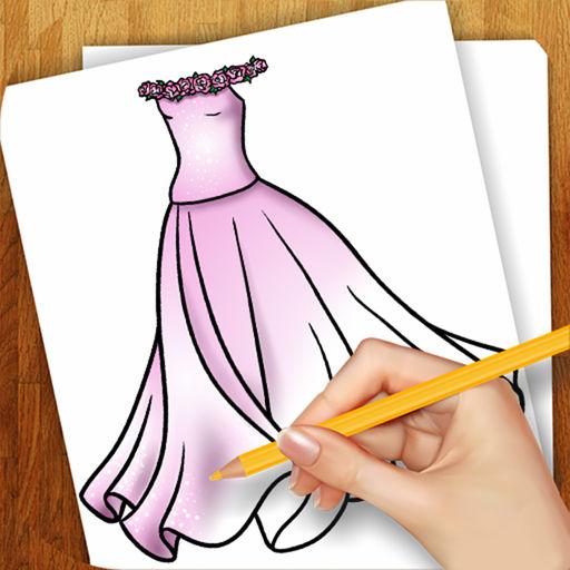512x512 Easy To Draw Dresses For Dolls By Yuriy Rozgonyuk