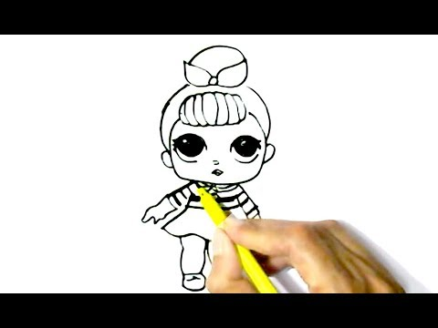 480x360 How To Draw L.o.l.doll In Easy Steps For Children, Kids, Beginners