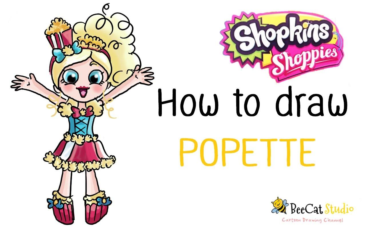 1280x800 How To Draw Shopkins Shoppies Dolls Popette