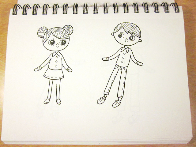 640x480 Sketchbook Sunday Drawing Dolls Rancho Cocoa