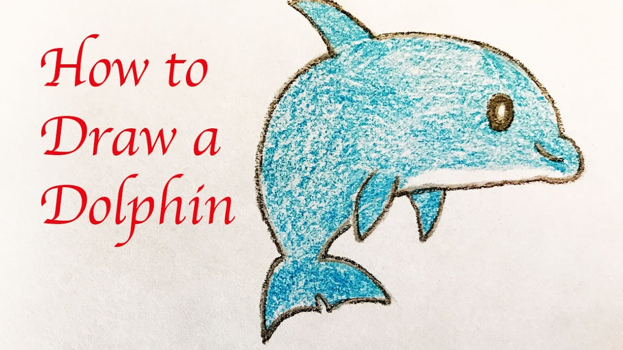1280x720 Drawing For Kids How To Draw A Cute Dolphin
