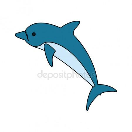 450x450 Blue Bottlenose Dolphin Jumping For Entertainment Show, Realistic