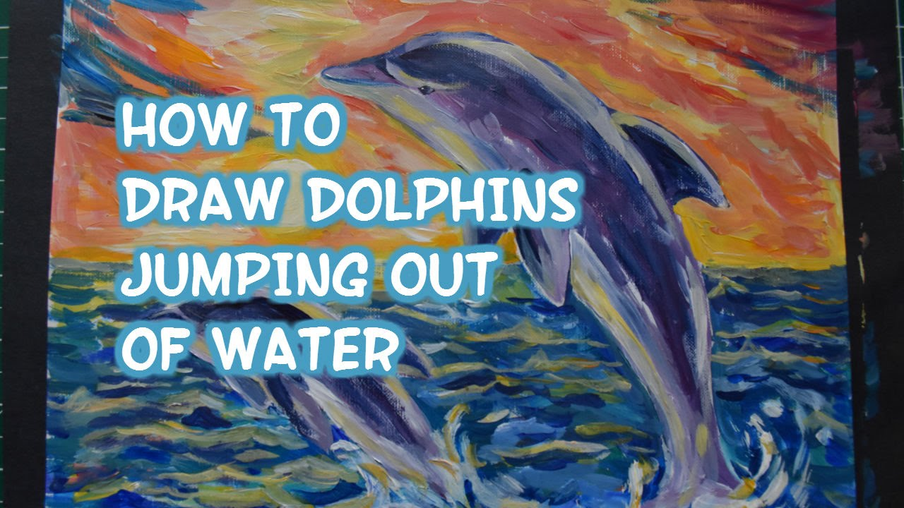 1280x720 How To Draw A Dolphin Jumping