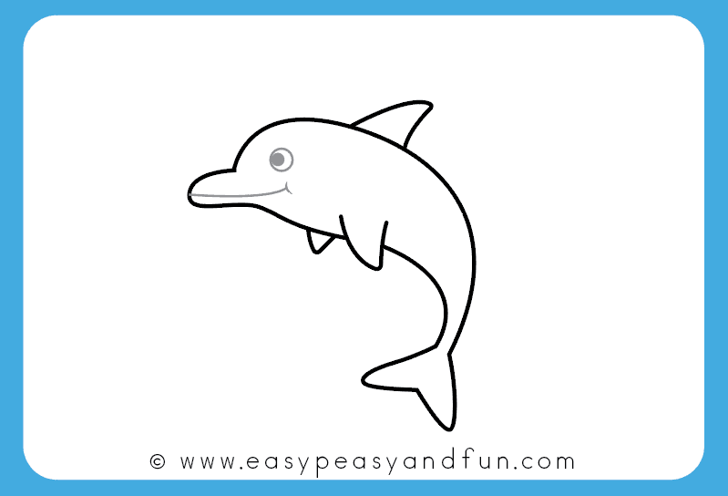 799x544 How To Draw A Dolphin Step By Step For Kids + Printable