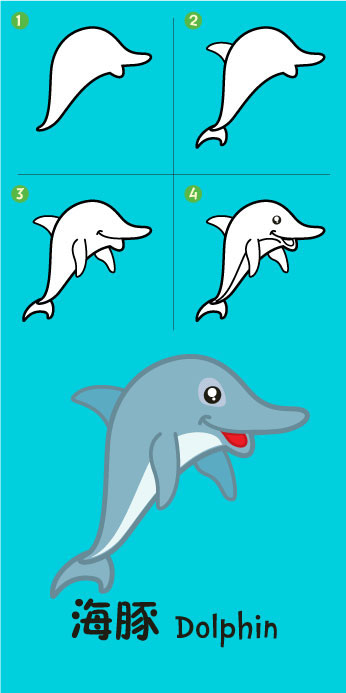 346x693 Dolphin Drawing Lessons Easy Drawings