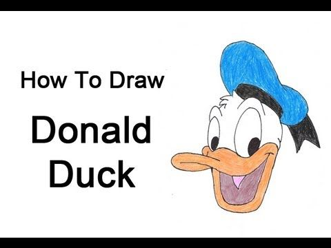 480x360 How To Draw Donald Duck Drawing Donald Duck
