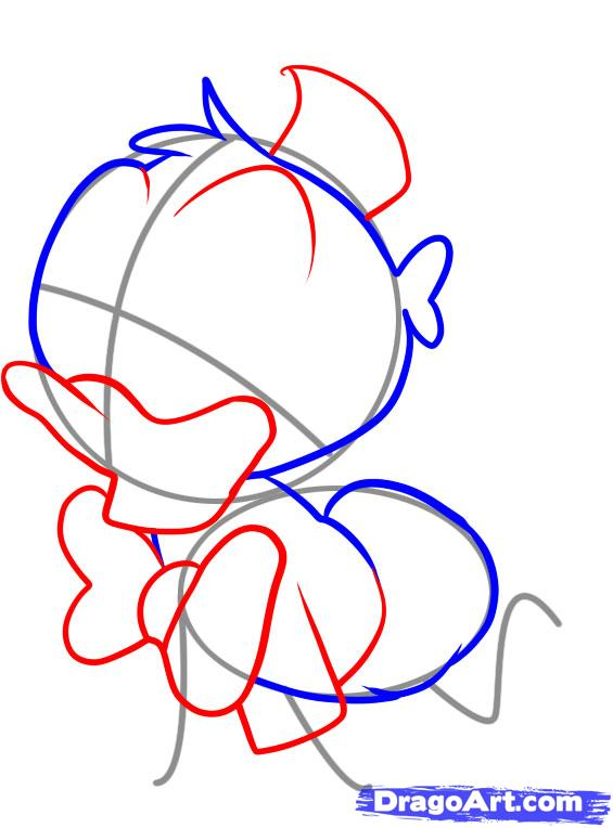 565x764 How To Draw Baby Donald Duck Step 3 Chibis Donald