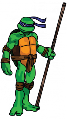 215x382 How To Draw Donatello From Ninja Turtles, Cartoons, Easy Step By