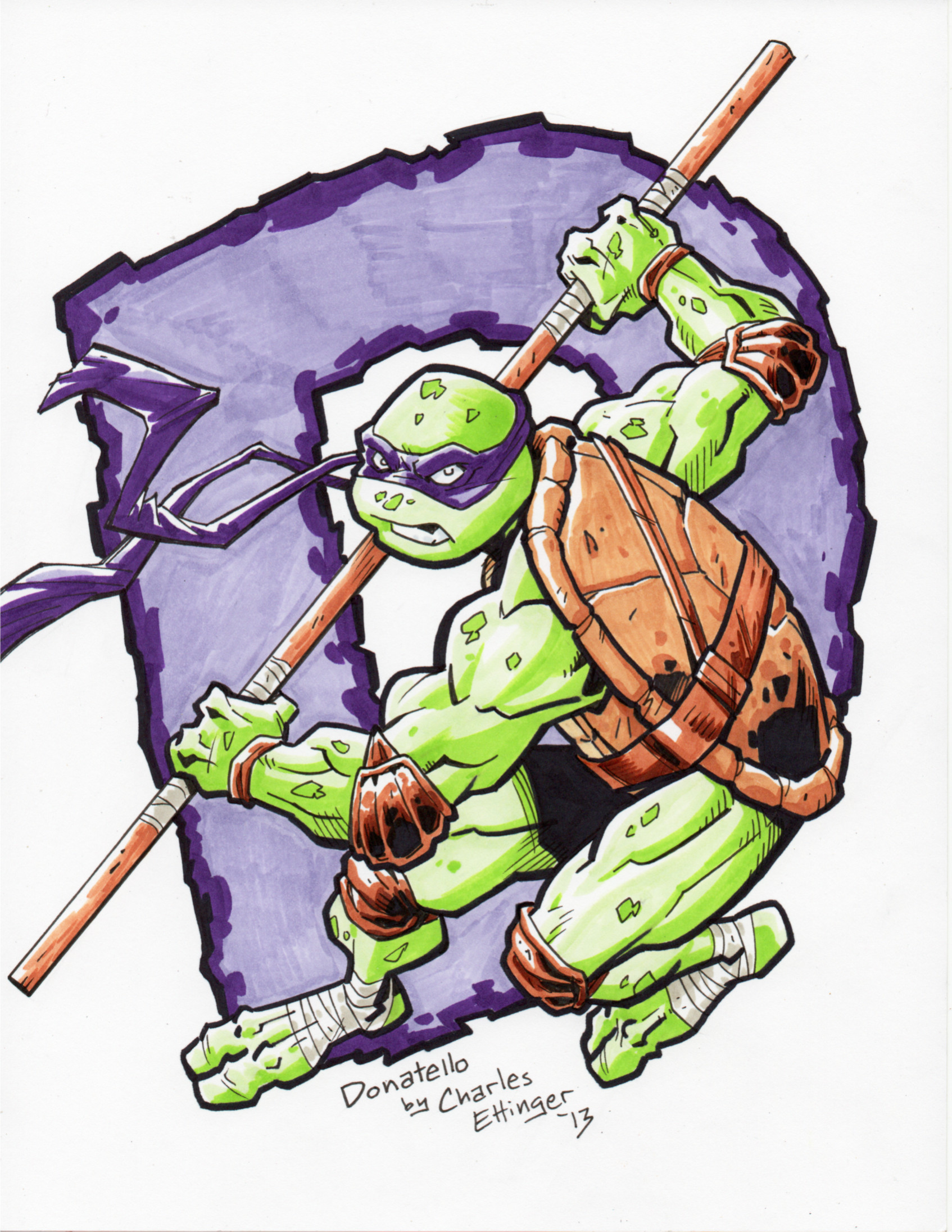 1694x2192 Pen And Copic Marker Drawing 1 Of 4. Donatello! Misc