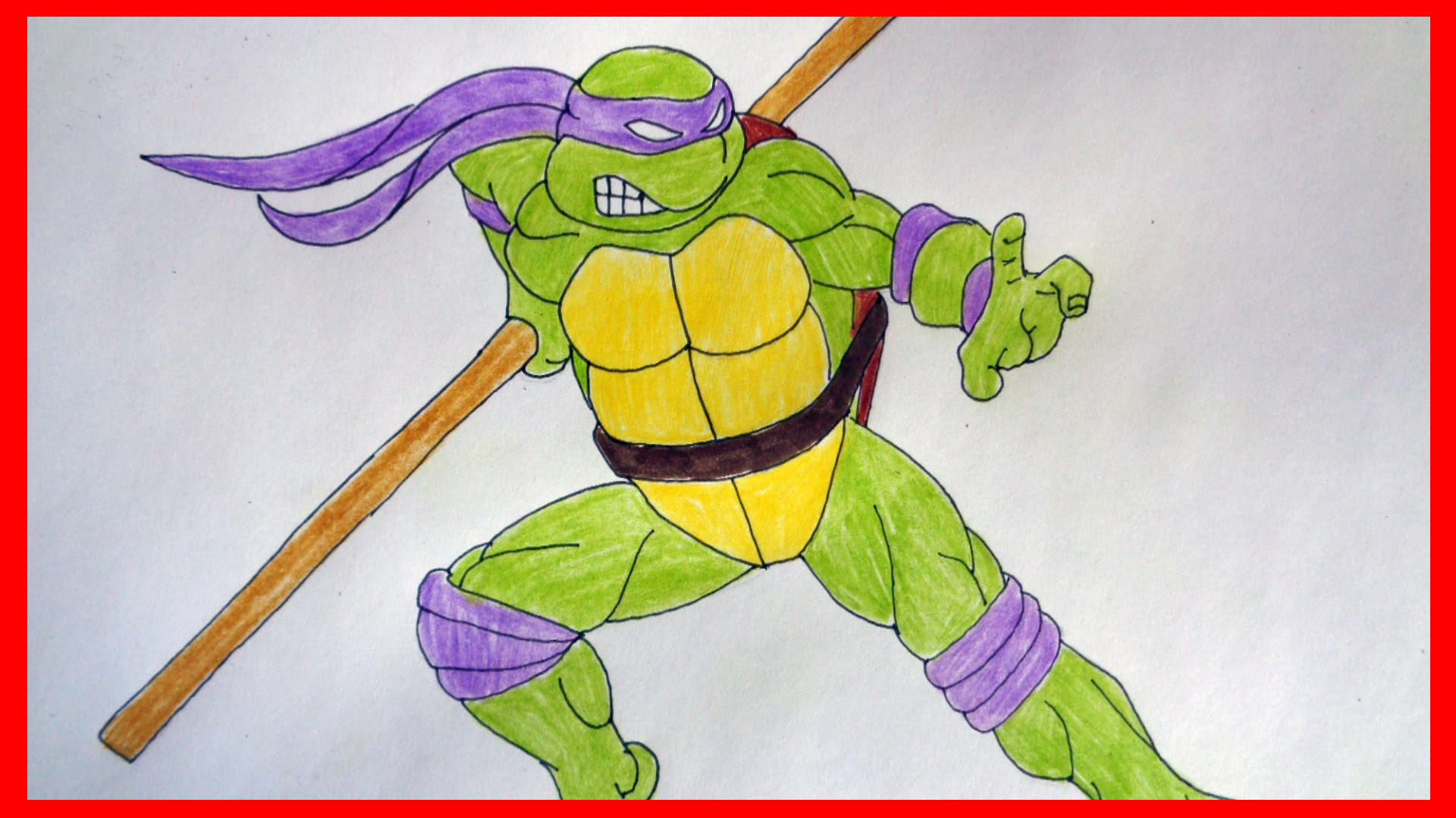 Donatello Ninja Turtle Drawing at GetDrawings | Free download