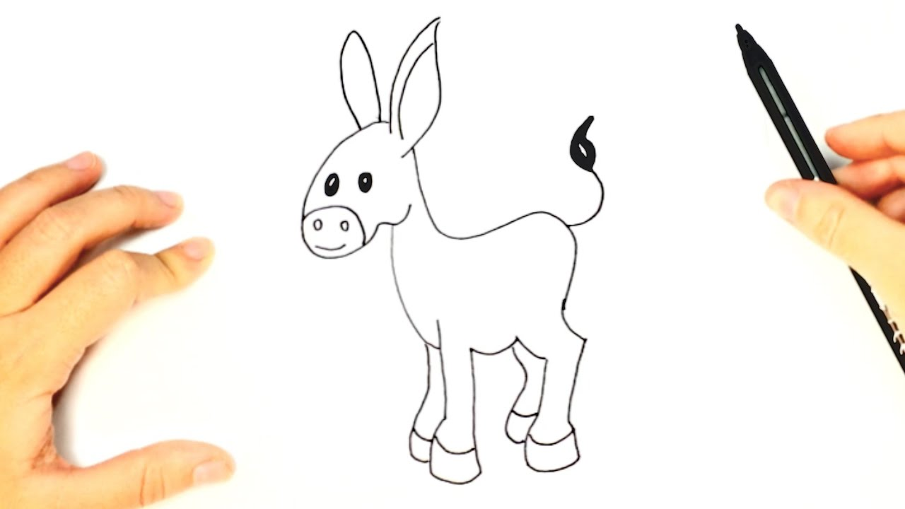 Donkey Cartoon Drawing at GetDrawings.com | Free for personal use ...