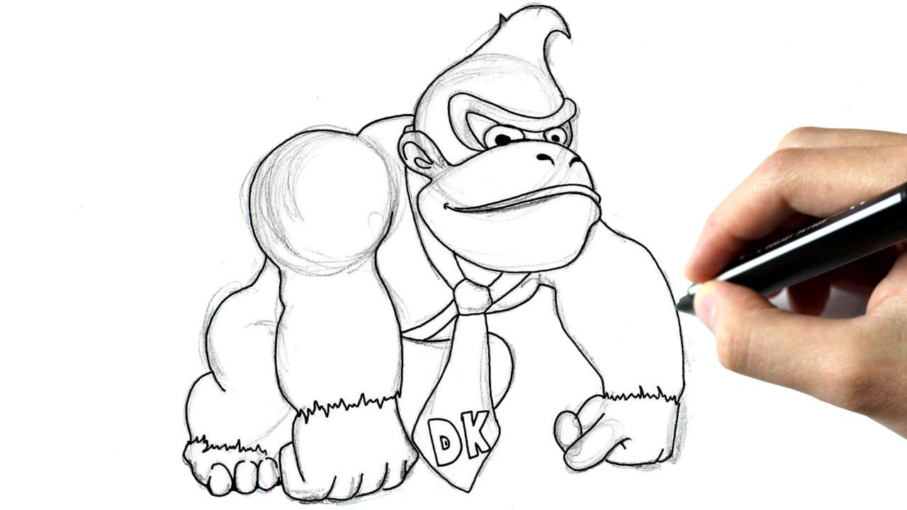 1280x720 Comment Dessiner Donkey Kong