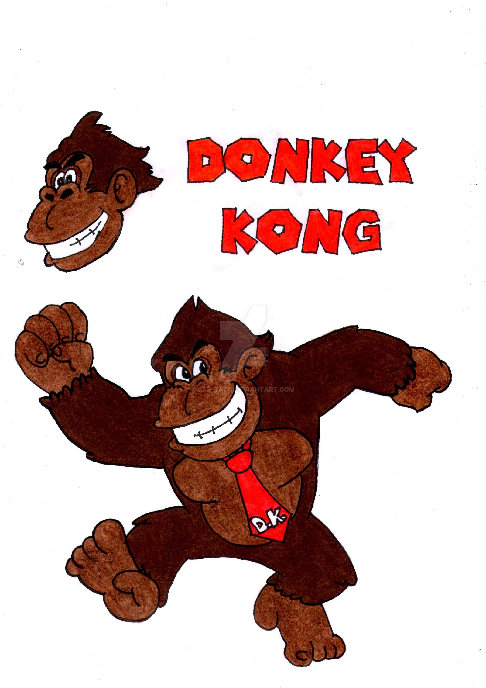 1600x2263 Donkey Kong (Classic Design) By Car Taco