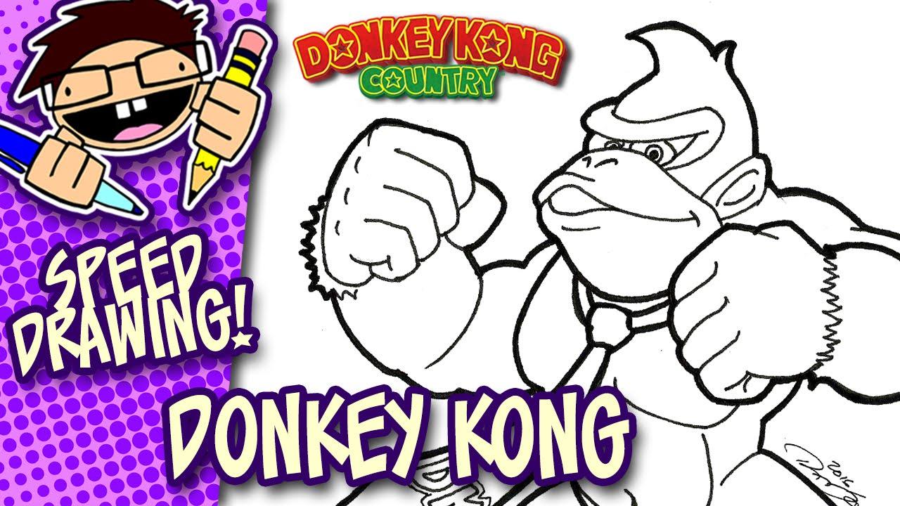 1280x720 Speed Drawing Donkey Kong (Nintendo)