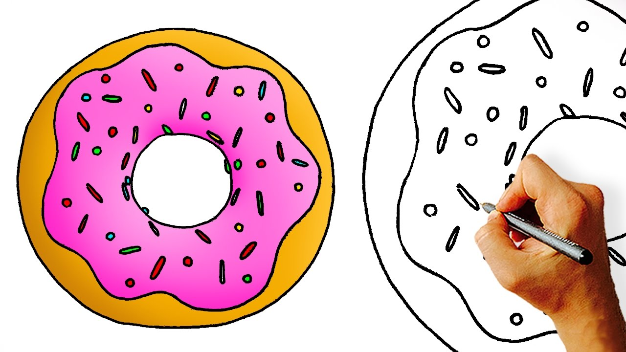 Donut Drawing at GetDrawings.com | Free for personal use Donut ...