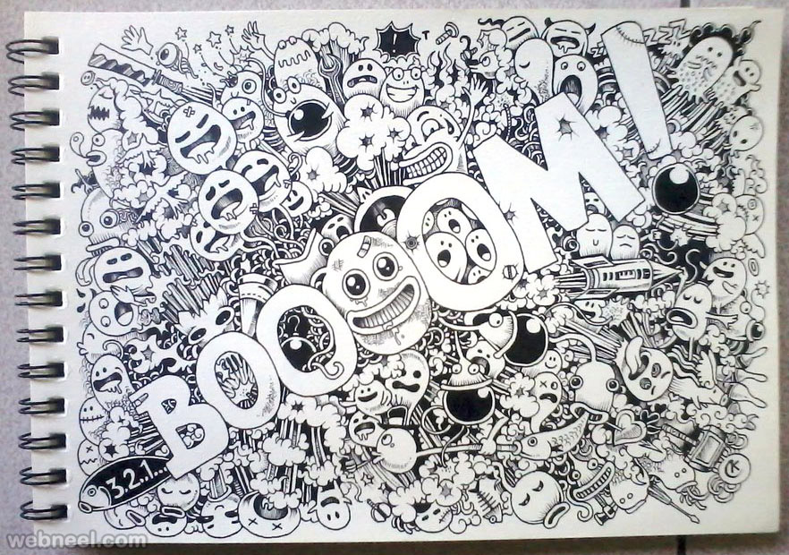 882x620 beautiful doodle art works around the world