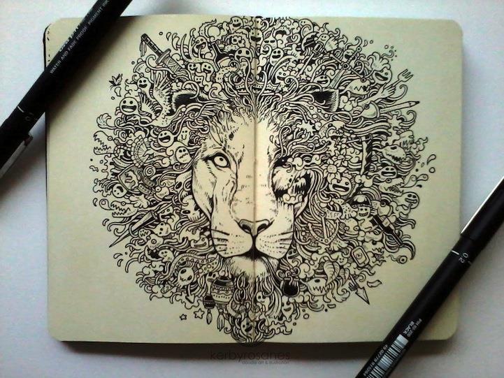 721x541 Amazing Moleskin Doodles