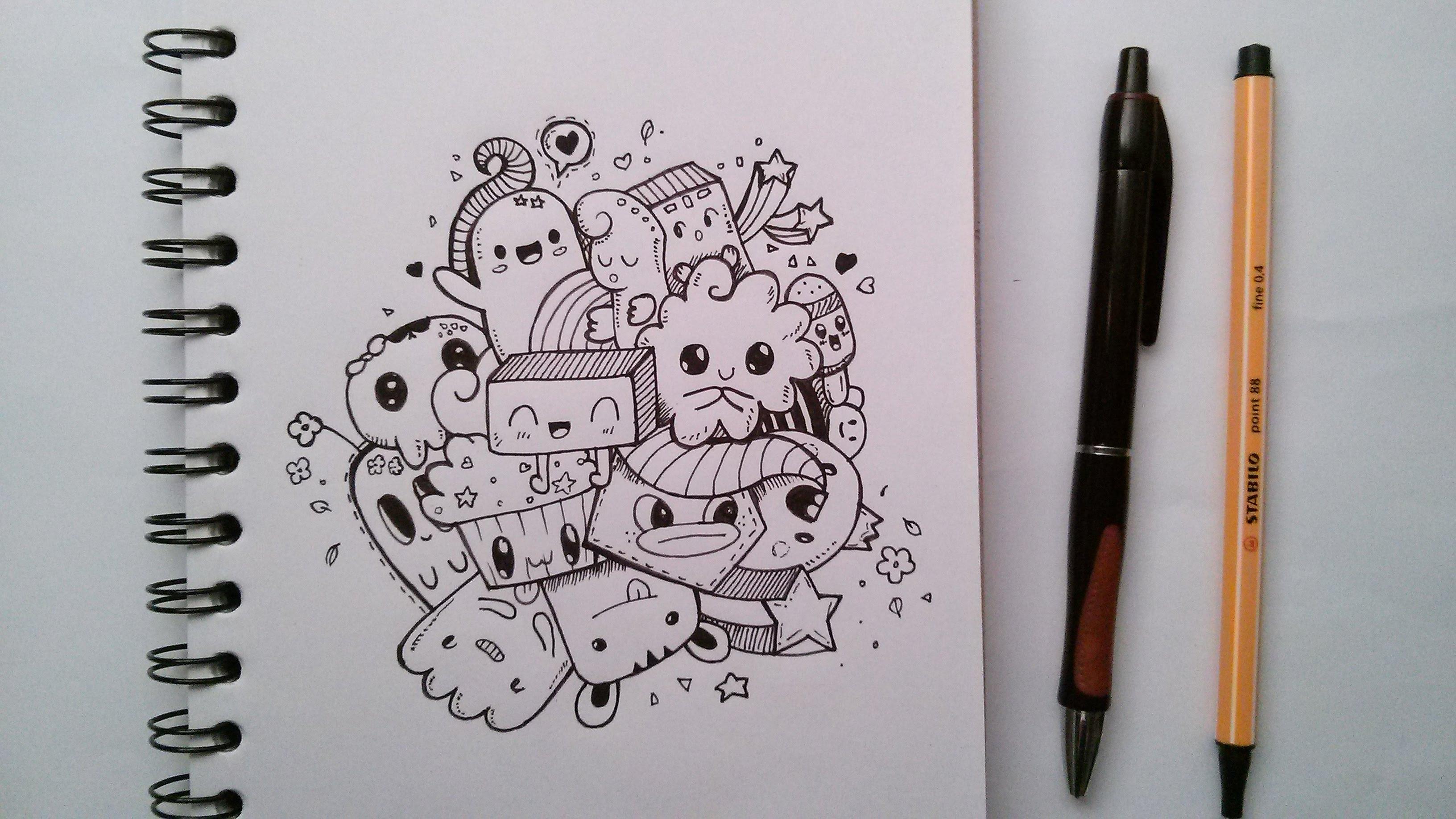 3264x1836 Cute Doodle