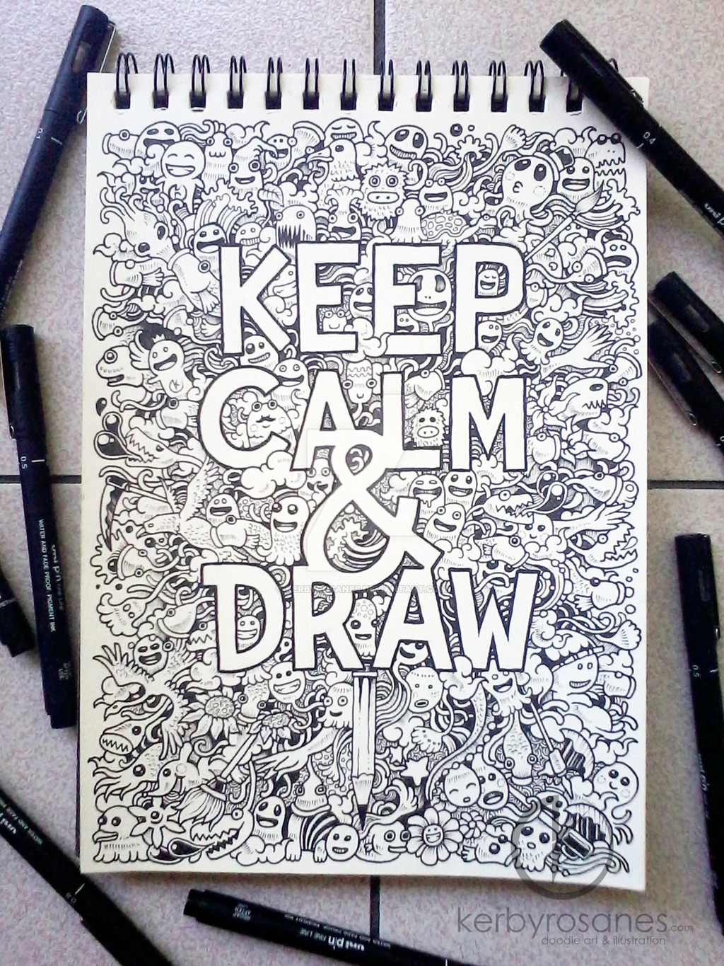 1024x1365 Doodle Art Keep Calm And Draw By Kerbyrosanes