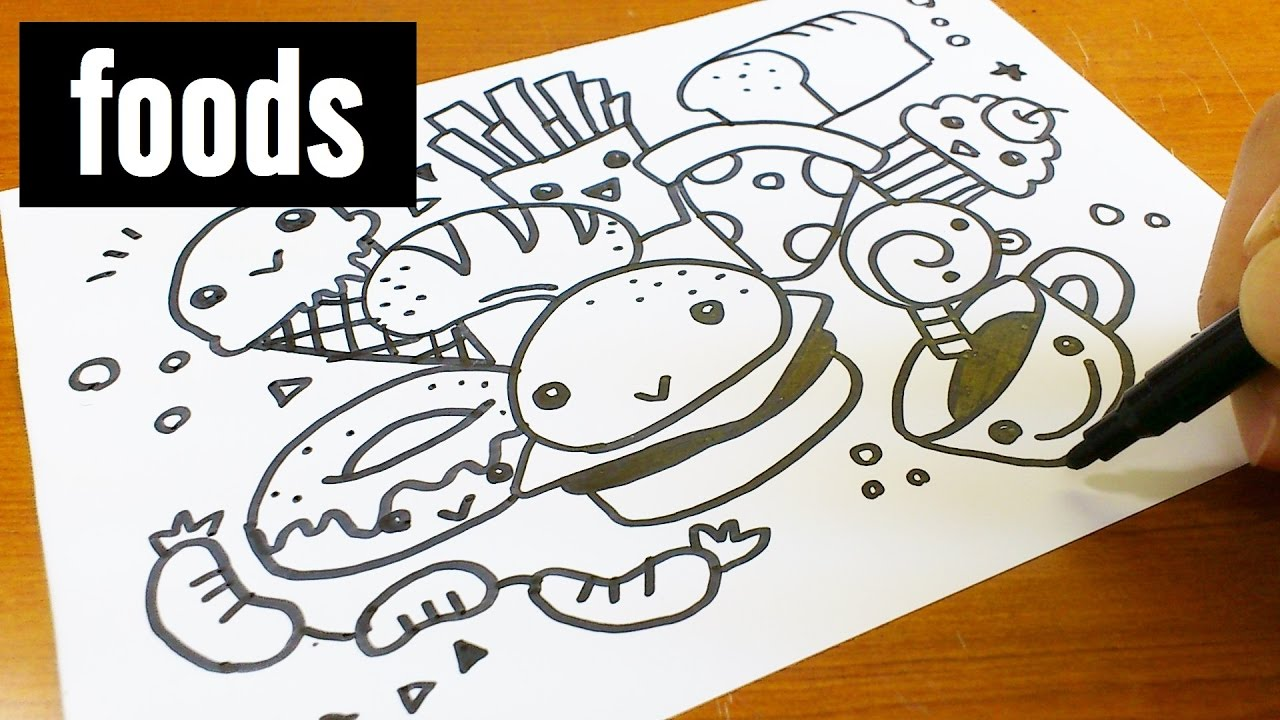 1280x720 How To Draw Cute Amp Kawaii Doodle ! Foods Doodle For Kids
