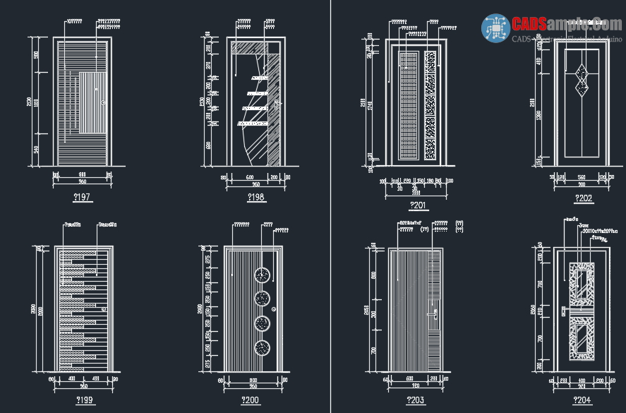 887x585 Door Detail Block Autocad Dwg 2 Relief