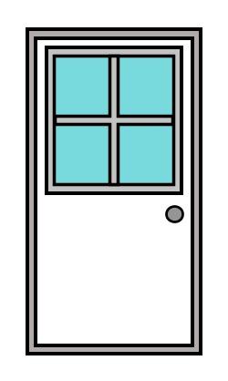 half open door drawing. Simple Open 250x418 Drawing A Cartoon Door In Half Open Door N