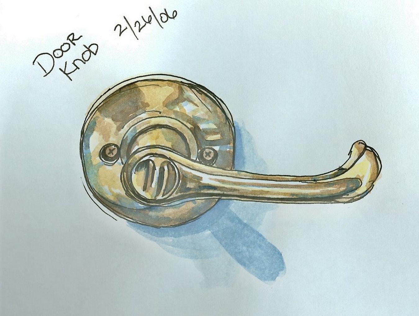 1350x1019 Drawing Door Knob Doorknob Pretty Depiction Edm 55 Draw 6