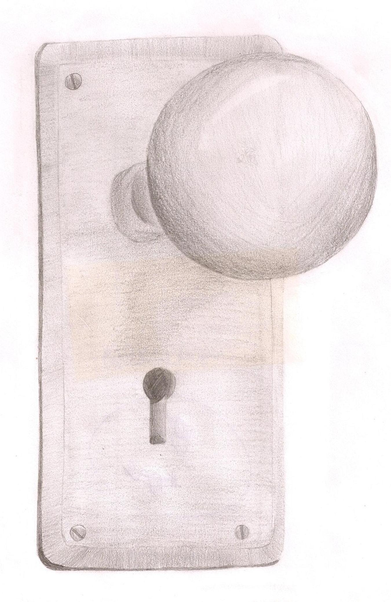 1350x2075 Drawing Door Knob Still Cat Girl28 Creative Portrait 12