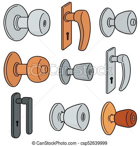 450x470 Vector Set Of Door Knobs Eps Vectors